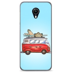 Funda Gel Tpu para Vodafone Smart N9 Lite Diseño Furgoneta Dibujos