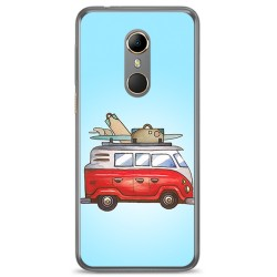 Funda Gel Tpu para Vodafone Smart N9 Diseño Furgoneta Dibujos