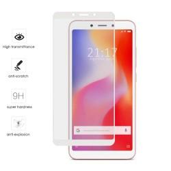 Protector Cristal Templado Frontal Completo Blanco para Xiaomi Redmi 6 / 6A Vidrio