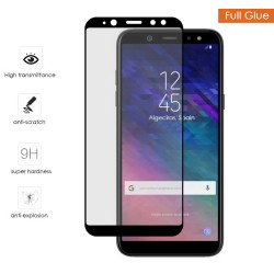 Protector Cristal Templado Completo Full Glue Negro para Samsung Galaxy A6 (2018) Vidrio