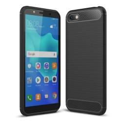 Funda Gel Tpu Tipo Carbon Negra para Huawei Honor 7S / Y5 2018