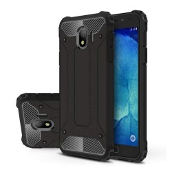 Funda Tipo Hybrid Tough Armor (Pc+Tpu) Negra para Samsung Galaxy J4 (2018)