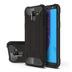 Funda Tipo Hybrid Tough Armor (Pc+Tpu) Negra para Samsung Galaxy J6 (2018)