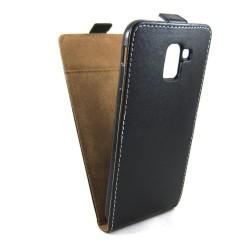 Funda Piel Premium Negra Ultra-Slim para Samsung Galaxy J6 (2018)