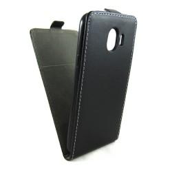 Funda Piel Premium Negra Ultra-Slim para Samsung Galaxy J4 (2018)