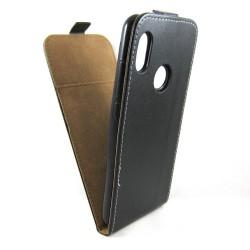 Funda Piel Premium Negra Ultra-Slim para Xiaomi Redmi Note 5 / Note 5 Pro
