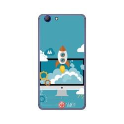 Funda Gel Tpu para Elephone R9 Diseño Cohete Dibujos