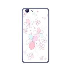 Funda Gel Tpu para Elephone R9 Diseño Flores Minimal Dibujos