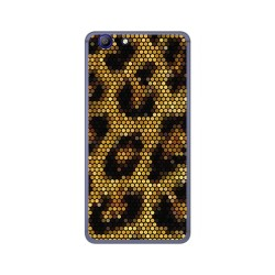 Funda Gel Tpu para Elephone R9 Diseño Leopardo Dibujos