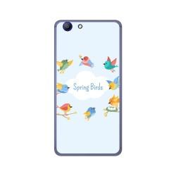 Funda Gel Tpu para Elephone R9 Diseño Spring Birds Dibujos