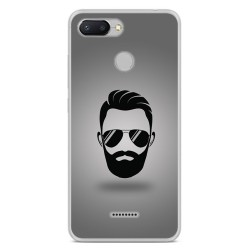Funda Gel Tpu para Xiaomi Redmi 6 Diseño Barba Dibujos