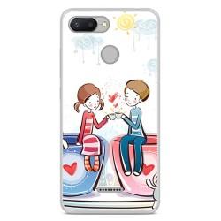 Funda Gel Tpu para Xiaomi Redmi 6 Diseño Cafe Dibujos