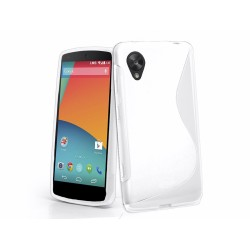 Funda Gel Tpu Lg Google Nexus 5 S Line Color Blanca