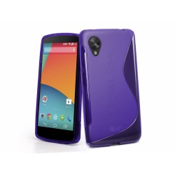 Funda Gel Tpu Lg Google Nexus 5 S Line Color Morada