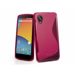 Funda Gel Tpu Lg Google Nexus 5 S Line Color Rosa