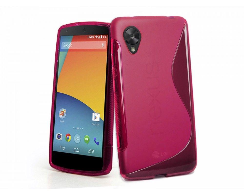 Funda Gel Tpu Lg Google Nexus 5 S Line Color Rosa