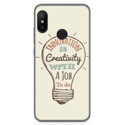 Funda Gel Tpu para Xiaomi Redmi 6 Pro / Mi A2 Lite Diseño Creativity Dibujos
