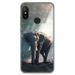 Funda Gel Tpu para Xiaomi Redmi 6 Pro / Mi A2 Lite Diseño Elefante Dibujos