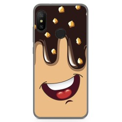 Funda Gel Tpu para Xiaomi Redmi 6 Pro / Mi A2 Lite Diseño Helado Chocolate Dibujos