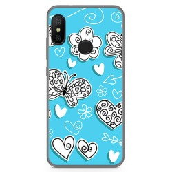 Funda Gel Tpu para Xiaomi Redmi 6 Pro / Mi A2 Lite Diseño Mariposas Dibujos