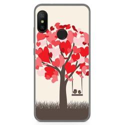 Funda Gel Tpu para Xiaomi Redmi 6 Pro / Mi A2 Lite Diseño Pajaritos Dibujos