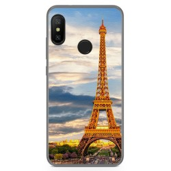 Funda Gel Tpu para Xiaomi Redmi 6 Pro / Mi A2 Lite Diseño Paris Dibujos