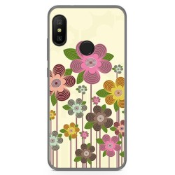 Funda Gel Tpu para Xiaomi Redmi 6 Pro / Mi A2 Lite Diseño Primavera En Flor Dibujos