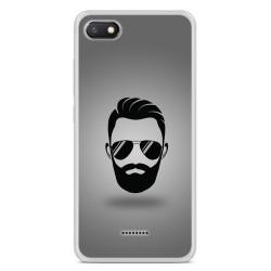 Funda Gel Tpu para Xiaomi Redmi 6A Diseño Barba Dibujos