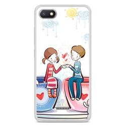 Funda Gel Tpu para Xiaomi Redmi 6A Diseño Cafe Dibujos