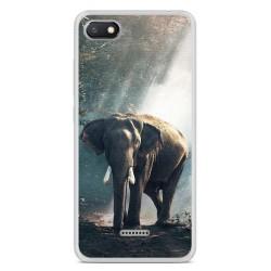 Funda Gel Tpu para Xiaomi Redmi 6A Diseño Elefante Dibujos