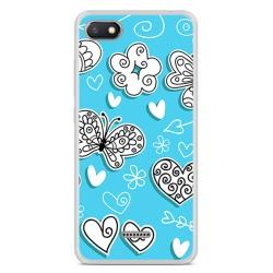 Funda Gel Tpu para Xiaomi Redmi 6A Diseño Mariposas Dibujos