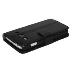 Funda Soporte Samsung Galaxy Ace 3 S7270 / S7272 / S7275 Stand Piel Negra
