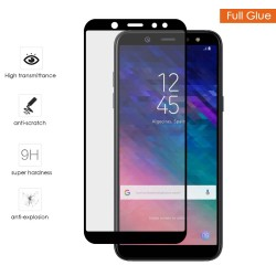Protector Cristal Templado Completo Full Glue Negro para Samsung Galaxy A6 Plus (2018) Vidrio