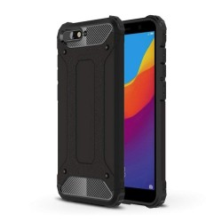Funda Tipo Hybrid Tough Armor (Pc+Tpu) Negra para Huawei Honor 7A / Y6 2018
