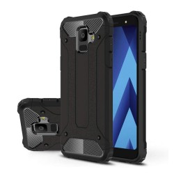 Funda Tipo Hybrid Tough Armor (Pc+Tpu) Negra para Samsung Galaxy A6 (2018)