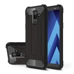 Funda Tipo Hybrid Tough Armor (Pc+Tpu) Negra para Samsung Galaxy A6 Plus (2018)