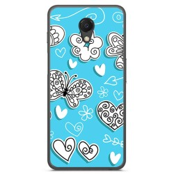 Funda Gel Tpu para Meizu M6S Diseño Mariposas Dibujos