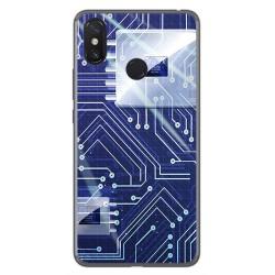 Funda Gel Tpu para Xiaomi Mi Max 3 Diseño Circuito Dibujos