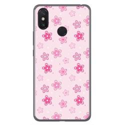 Funda Gel Tpu para Xiaomi Mi Max 3 Diseño Flores Dibujos