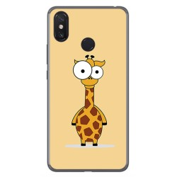 Funda Gel Tpu para Xiaomi Mi Max 3 Diseño Jirafa Dibujos
