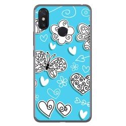 Funda Gel Tpu para Xiaomi Mi Max 3 Diseño Mariposas Dibujos
