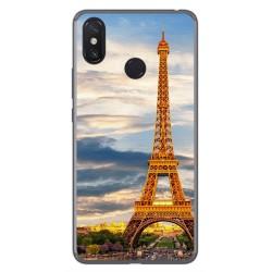 Funda Gel Tpu para Xiaomi Mi Max 3 Diseño Paris Dibujos