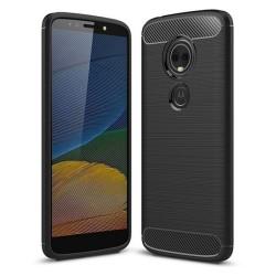 Funda Gel Tpu Tipo Carbon Negra para Motorola Moto E5 / G6 Play