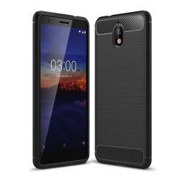 Funda Gel Tpu Tipo Carbon Negra para Nokia 3.1 (2018)