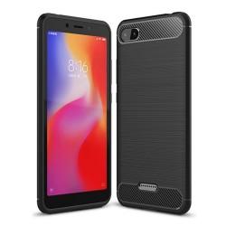 Funda Gel Tpu Tipo Carbon Negra para Xiaomi Redmi 6A