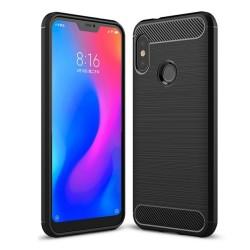 Funda Gel Tpu Tipo Carbon Negra para Xiaomi Redmi 6 Pro / Mi A2 Lite