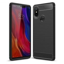 Funda Gel Tpu Tipo Carbon Negra para Xiaomi Mi 8 Se