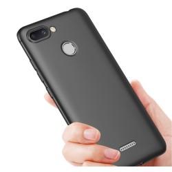 Funda Gel Tpu Tipo Mate Negra para Xiaomi Redmi 6