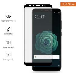 Protector Cristal Templado Completo Full Glue Negro para Xiaomi Mi 6X / Mi A2 Vidrio