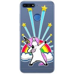 Funda Gel Transparente para Huawei Honor 7A / Y6 2018 Diseño Unicornio Dibujos